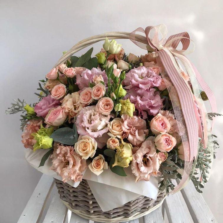 Корзина с цветами 469