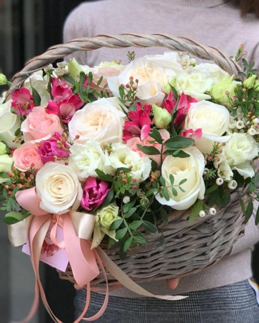 корзина с цветами_476