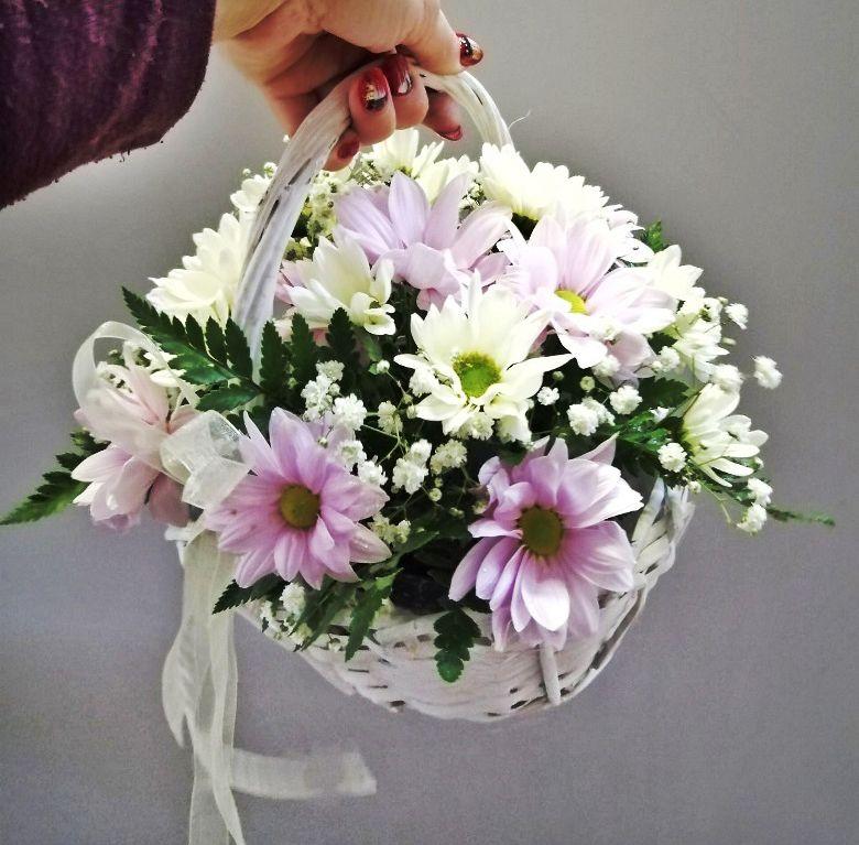 Корзина с цветами 468