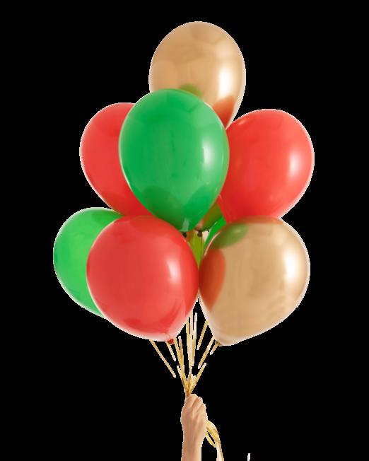 Набор связка из 9 латексных шаров