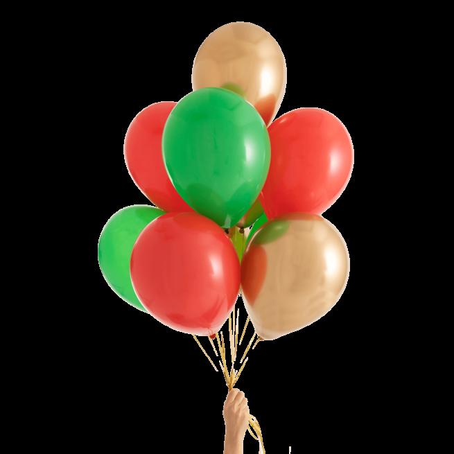 Набор из 9 латексных шаров (цвет ассорти) — 551