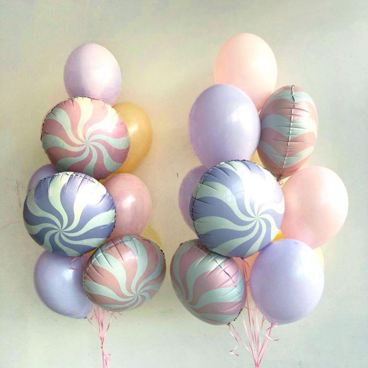 Набор из 9 латексных и фольгированных шаров -549