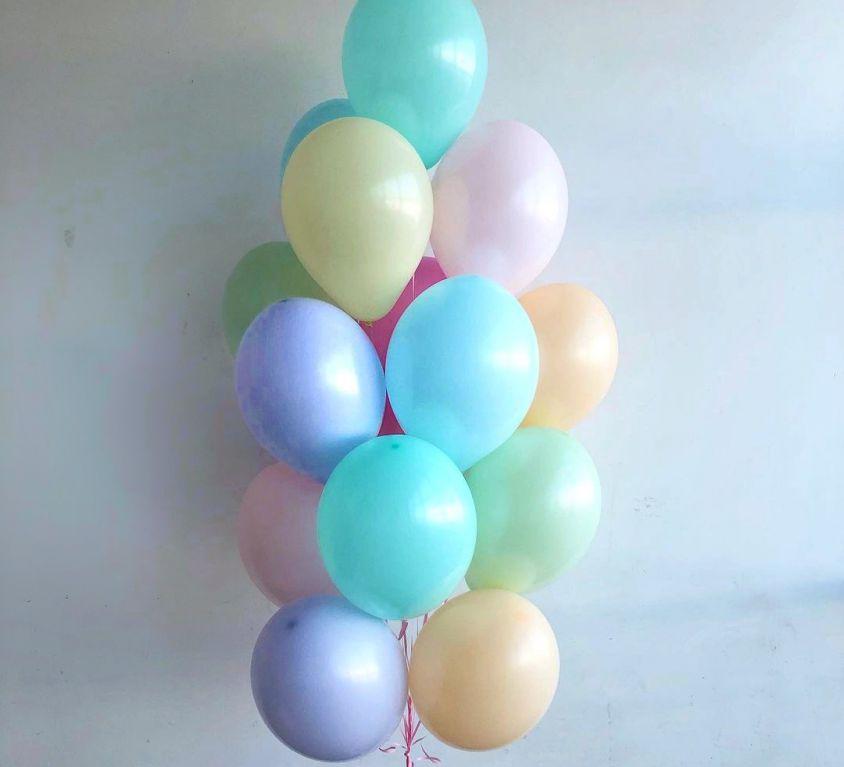Набор из 15 латексных шаров (ассорти цветов) — 542
