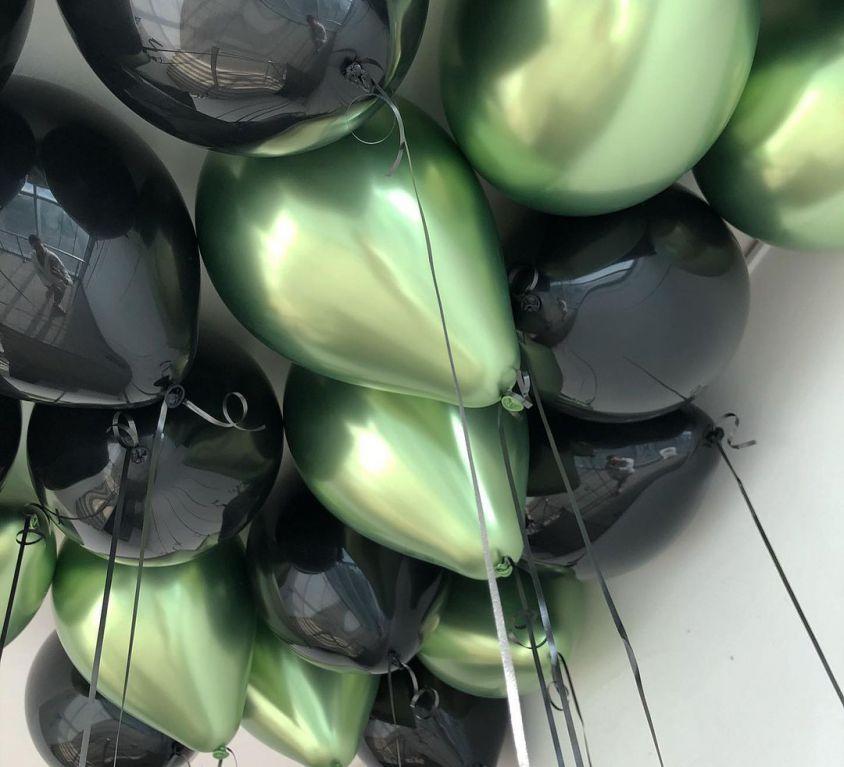 Набор из 15 латексных металлизированных шаров (цвет ассорти) — 552