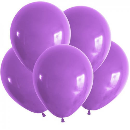 набор из 7 однотонных латексных шаров в гелием_фиолетовый