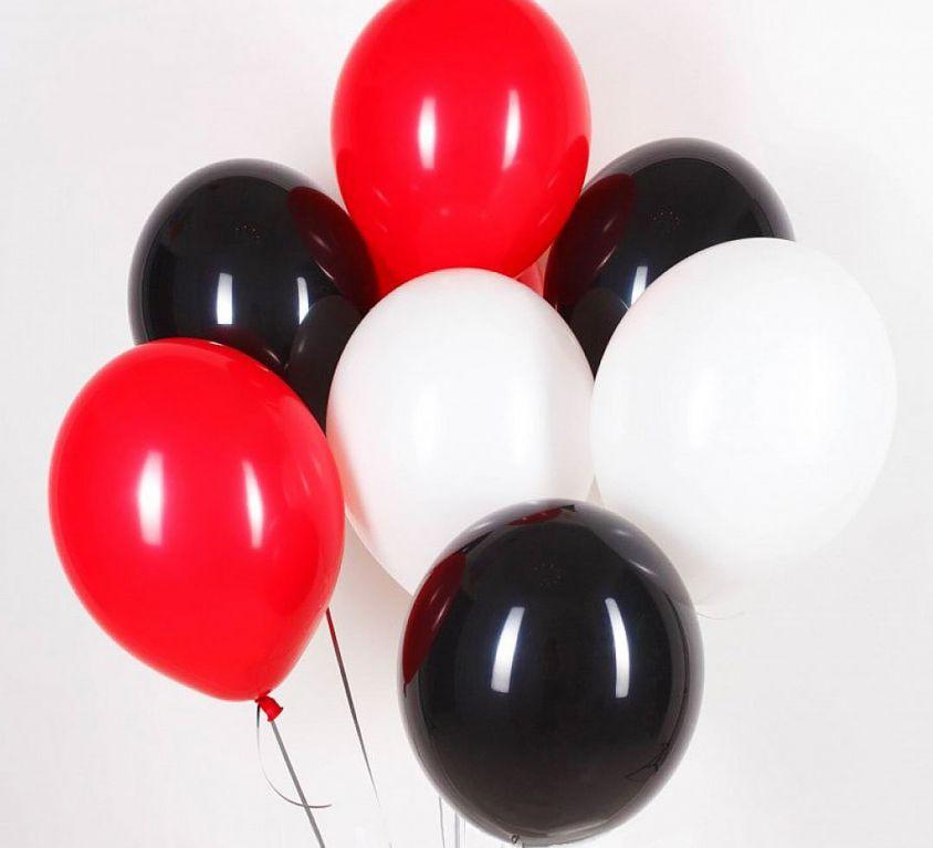 Набор из 9 латексных шаров (три цвета) — 498