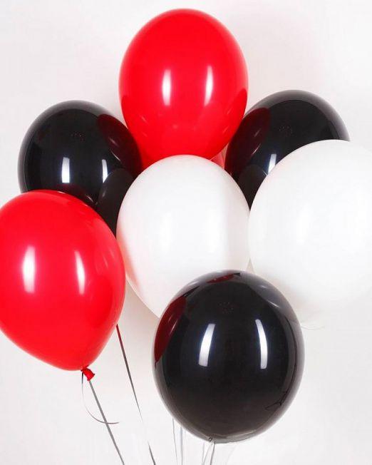 набор из 9 красных, черных, белых шаров