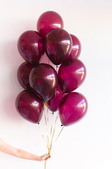 набор из 9 шаров однотонных