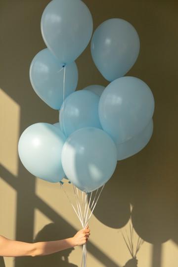 Набор из 9 латексных шаров (один цвет) — 543