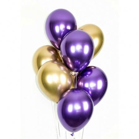 Набор из 9 латексных металлизированных шаров (цвет ассорти) — 551