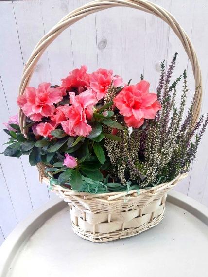 набор цветов в корзинке