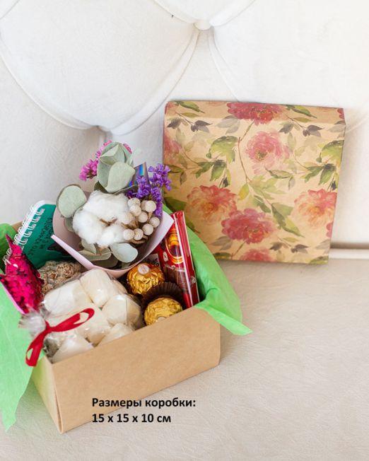 подарочный набор 15-15 -коробка с цветам, игрушкой, сладостями в Бресте_8222 - копия