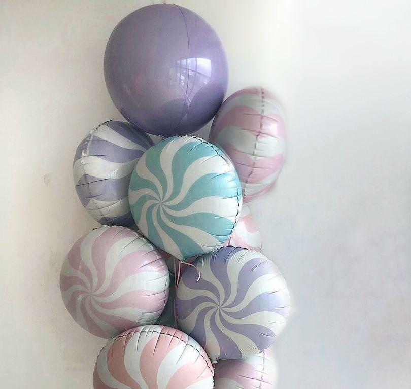 Набор из 9 фольгированных шаров -550