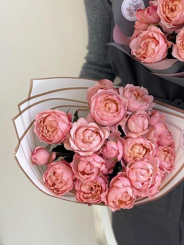 Букет из пионовидной розы джульетта — 587