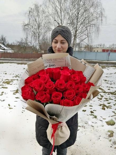 Букет из 31 красной розы — 594