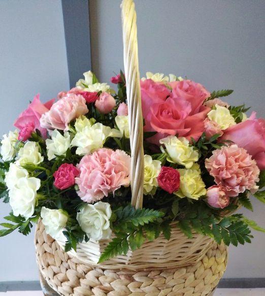 корзина подарочная с розами 588_1