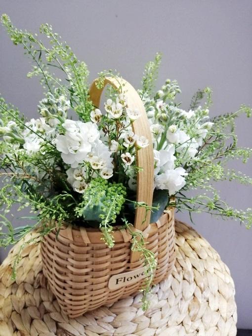Корзина с первоцветами 617