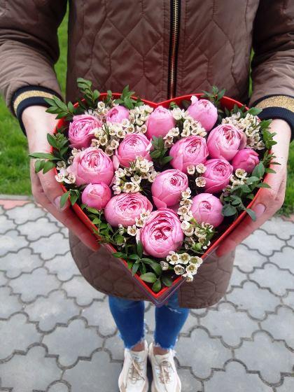 Сердце с цветами 604