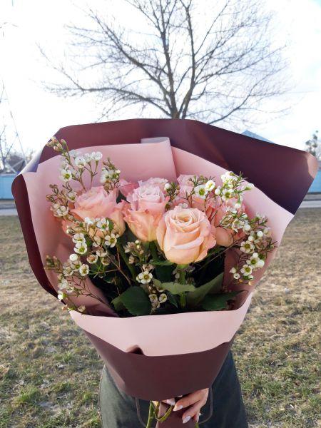 букет из пионовидной розы_2