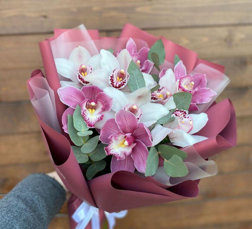 Букет сборный из орхидеи цинбидиум 648