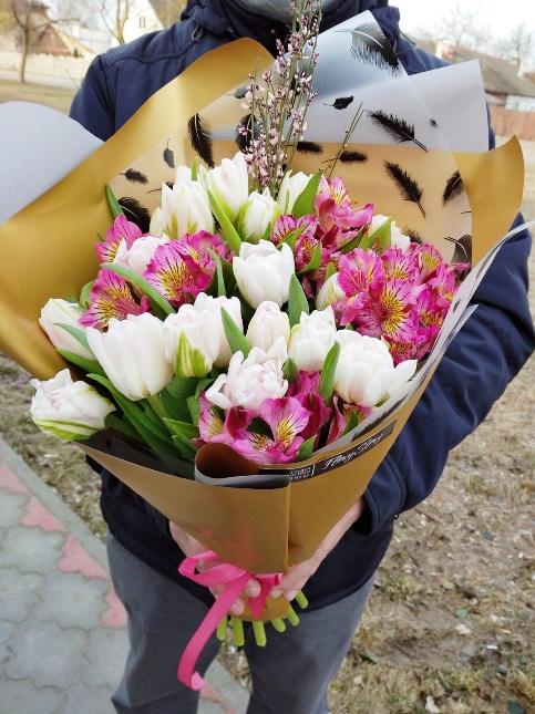 Букет из весенних цветов 629