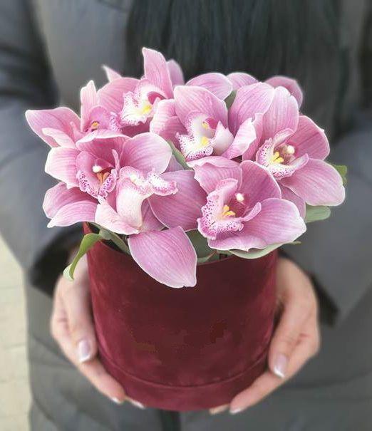 шляпная коробка с орхидеей-2