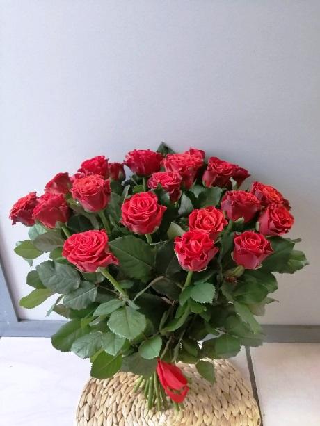 Букет из красных роз эльторро (15 шт) 162