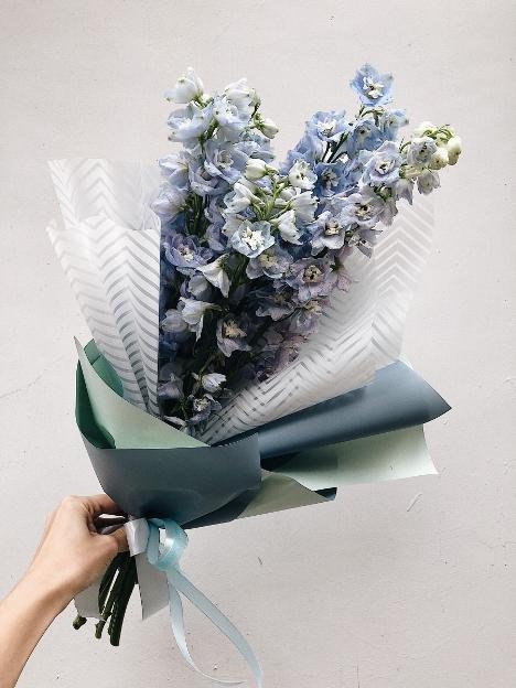 букет из голубого дельфиниума (3)