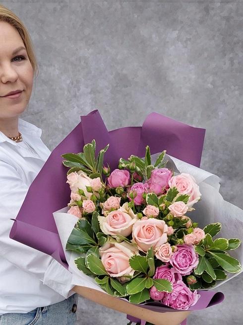 Букет из пионовидных роз — 186